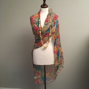 MULTI COLOR FLORAL SCARF